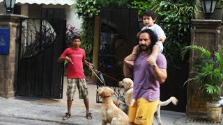 Saif Ali Khan With Son Taimur Spotted At Bandra Watch Video