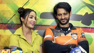 Hina Khan And Hiten Tejwani At MTV BCL SEASON 4 Photoshoot