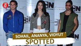 Vidyut Jammwal Ananya Panday & Sohail Khan Spotted Last Night