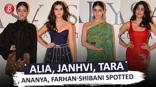 Alia Bhatt Janhvi Kapoor Tara Sutaria, Ananya Panday Farhan Akhtar-Shibani Dandekar At Sabyasachi
