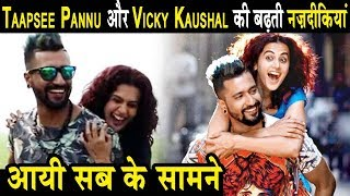 Taapsee Pannu & Vicky Kaushal spotted Behind The Camera | Dainik Savera