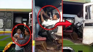 WATCH- 2 Private Bus Drivers Beat Up Each Other At Mapusa!