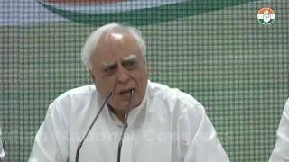 LIVE- AICC Press Briefing By Kapil Sibal at Congress HQ