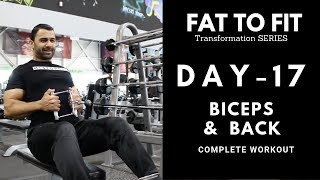 BICEP and BACK Gym Workout! Day-17 (Hindi / Punjabi)