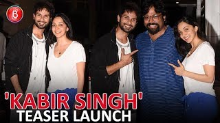 Shahid Kapoor & Kiara Advani Are All Smiles After Kabir Singh' Teaser Launch