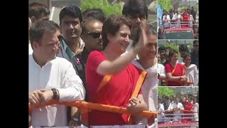 Watch- Rahul Gandhi holds mega road show in Amethi, as he file nomination papers