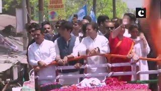 Rahul Gandhi holds road show in Amethi before filing nomination, alongside Priyanka Gandhi Vadra