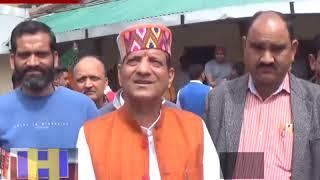 खाद्य आपूर्ति मंत्री किशन कपूर पहुंचे  खनियारा  इंदू्रनाग के मंदिर