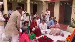 UPA Chairperson Sonia Gandhi Performs Havan Before Filing Nomination From Rae Bareli