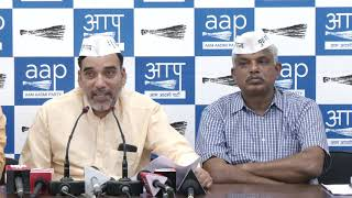 AAP Leader Gopal Rai & Pankaj Gupta made Public the 5 yrs Report Card of Dr. Harshvardhan