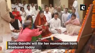 Sonia Gandhi performs 'havan' ahead of filing nomination from Raebareli