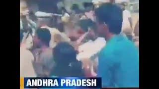 Watch: Clashes erupt between workers of TDP and YSRCP