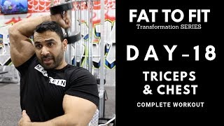 Beginners CHEST and TRICEPS Workout! Day-18 (Hindi / Punjabi)