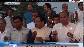 Gandhinagar: People organised a Candle March for soldiers martyred in Pulwama attack