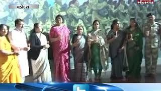 Vadodara: Lok Sabha Speaker Sumitra Mahajan pays tribute to CRPF jawans martyred in Pulwama attack
