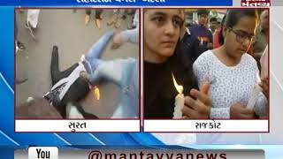 In Surat & Rajkot, People pays tribute to martyrs of Pulwama attack | Mantavya News