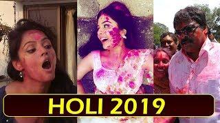 Celebs Holi Celebrations 2019 | Tollywood And Bollywood Star Holi 2019 Fest | Top Telugu TV