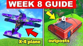 Fortnite ALL Season 8 Week 8 Challenges Guide! Destroy flying X-4 Stormwings, Expedition Outposts