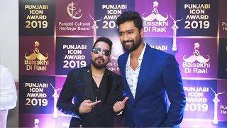 Vicky Kaushal And Mika Singh At Punjabi Icon Award 2019