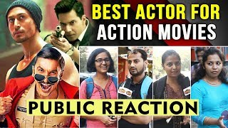 Best Action Star Of Bollywood | Public Reaction | Tiger Shroff, Varun Dhawan, Ranveer