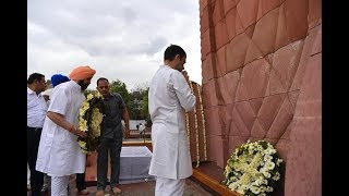 Congress President Rahul Gandhi pays tribute to the martyrs of Jallianwala Bagh