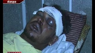 Punjab mein Gundagardi  alcohol contractors for brutally attacking a dalit in sangrur