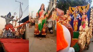 हैदराबाद में टाइगर राजा सिंह द्वारा आयोजित विशाल श्रीरामनवमी शोभायात्रा में भव्य मूर्तियों की एक झलक