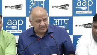 Senior AAP Leader Manish Sisodia , Gopal Rai along with others briefed on Mayapuri Violence