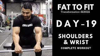 Complete SHOULDERS & WRIST Workout! Day-19 (Hindi / Punjabi)
