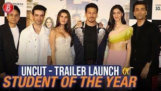 UNCUT - Student Of The Year 2 Trailer Launch | Tiger Shroff , Ananya Panday,Tara Sutaria