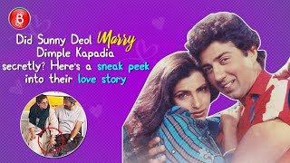 Did Sunny Deol marry Dimple Kapadia secretly? Heres a sneak peek into their love story