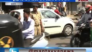 Ahmedabad: Clash between TRB personnel and vehicle driver on minor dispute