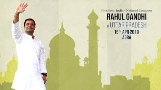 LIVE: Congress President Rahul Gandhi addresses public meeting in Fatehpur Sikri, Uttar Pradesh