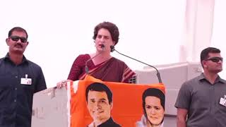Smt. Priyanka Gandhi Vadra addresses public meeting in Fatehpur Sikri, Uttar Pradesh