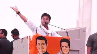 Jyotiraditya Scindia addresses public meeting in Fatehpur Sikri, Uttar Pradesh
