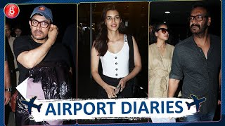 Aamir Khan Ajay Devgn Kajol and others spotted at the Airport