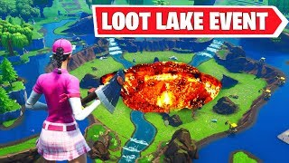 FORTNITE LOOT LAKE Dig Event! DISCOVERY SKIN REVEALED! Live RUIN SKIN DIGGING SITE EVENT Location