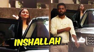 Alia Bhatt Snapped At Sanjay Leela Bhansali Office For Meeting Of Film Inshallah At Juhu