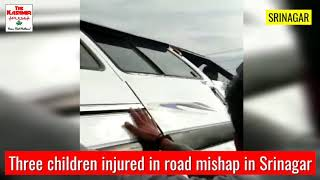 Three children injured in road mishap in Srinagar