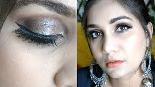 Summer Sweatproof Smudgeproof Wedding Guest Makeup Using Liquid Eyeshadows | Nidhi Katiyar