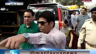 Vadodara: Mayor and Municipal Commissioner inspected the gutters
