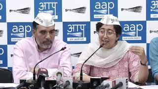 AAP Leader Gopal Rai & Atishi Made Public 5 yr Report Card of LS MP Mahesh Giri