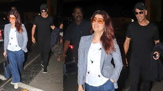 Akshay Kumar With Wife Twinkle Khanna Spotted At Mumbai Airport