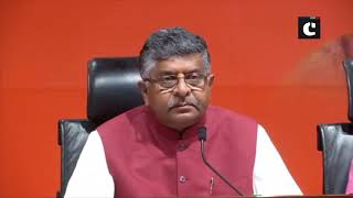 Don't give advice on nationalism to BJP: RS Prasad to Opposition
