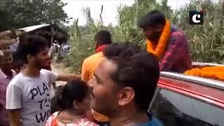 Kanhaiya Kumar faces protest during roadshow in Bihar's Begusarai