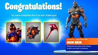 RUIN SKIN CHALLENGES - UNLOCK FREE REWARDS RUIN BACKBLING, PICKAXE (DISCOVERY CHALLENGES) Fortnite