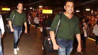 Bobby Deol Spotted At Mumbai Airport Returned From Nagpur