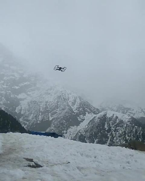 Flying Drone at Triund Hill