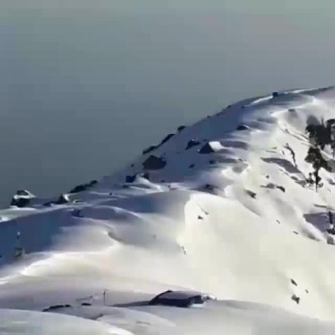 Triund Hill covered under 10 ft. of snow. vid by @manishkumar39