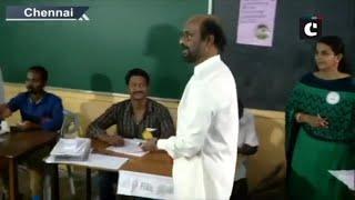 Rajinikanth casts his vote in Chennai